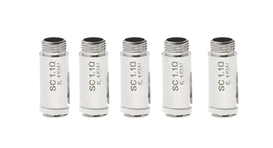 Replacement SC Coil Head for Eleaf iCare Atomizer (5-Pack)