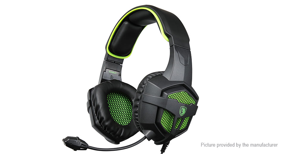 Authentic SADES SA807 Wired Gaming Headphones w/ Microphone