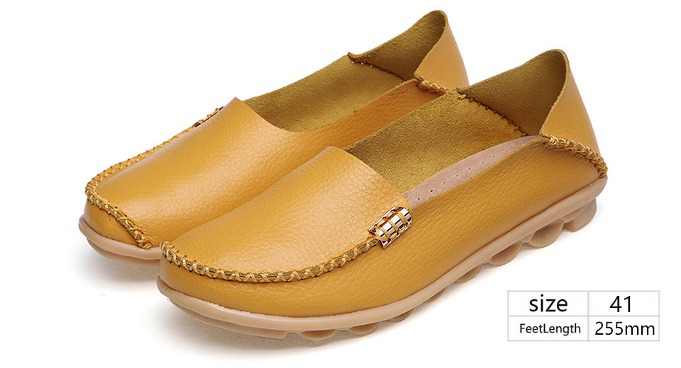 Womens Casual Round Toe Flat Loafers Shoes (Size 41)