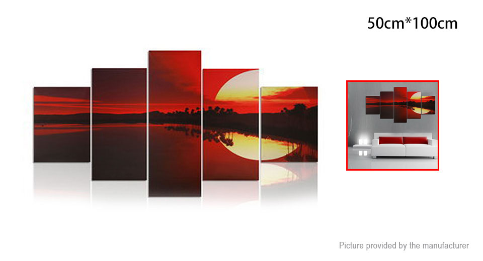 No Frame Modern Abstract Art Canvas Oil Painting Wall Decor (5 Pieces)