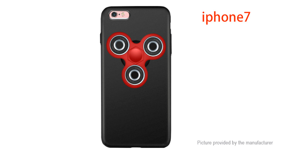 Pepkoo Hand Fidget Tri-Spinner Protective Back Case for iPhone 7