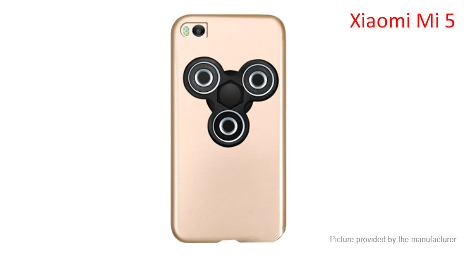 Pepkoo Hand Fidget Tri-Spinner Protective Back Case for Xiaomi Mi 5