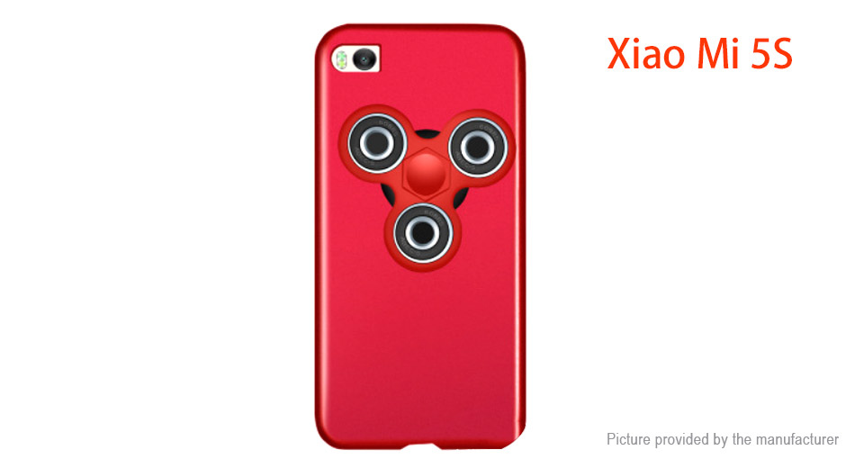 Pepkoo Hand Fidget Tri-Spinner Protective Back Case for Xiaomi Mi 5s
