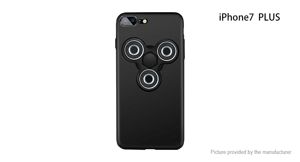 Pepkoo Hand Fidget Tri-Spinner Protective Back Case for iPhone 7 Plus