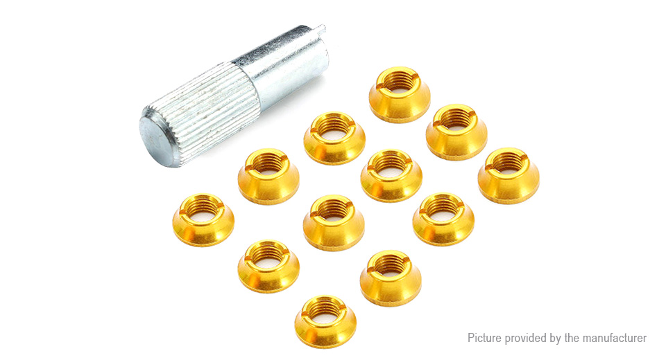 Radio Control Switch Color Nut for Futaba R/C Controller (12-Pack)