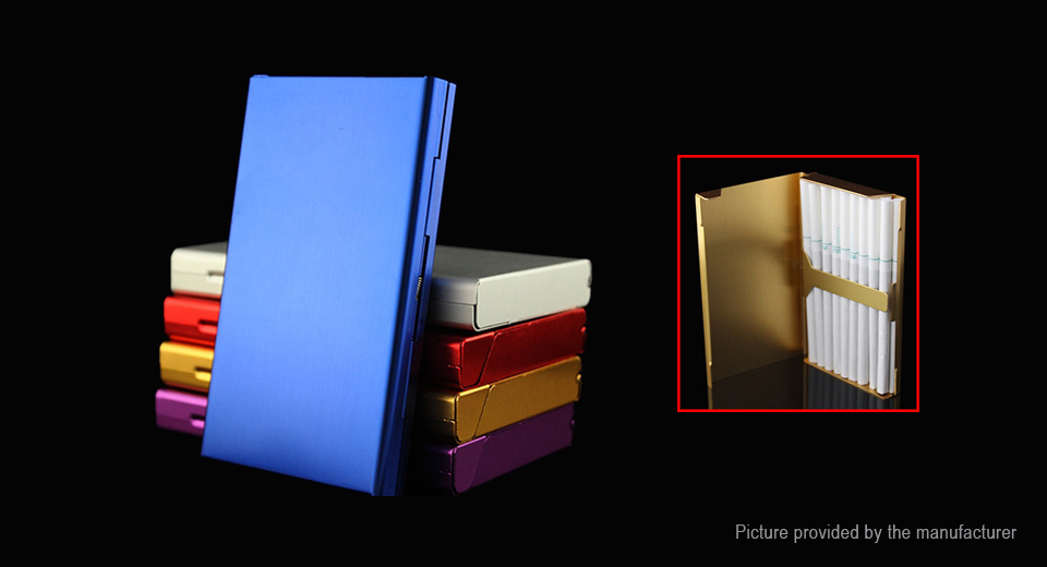 20 Sticks Portable Aluminum Alloy Cigarette Case Box
