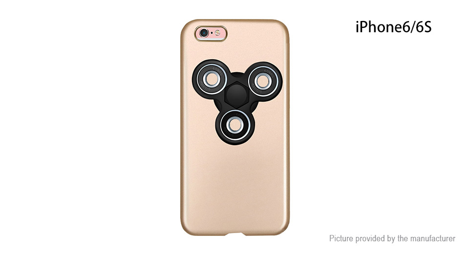Pepkoo Hand Fidget Tri-Spinner Protective Back Case for iPhone 6s/6