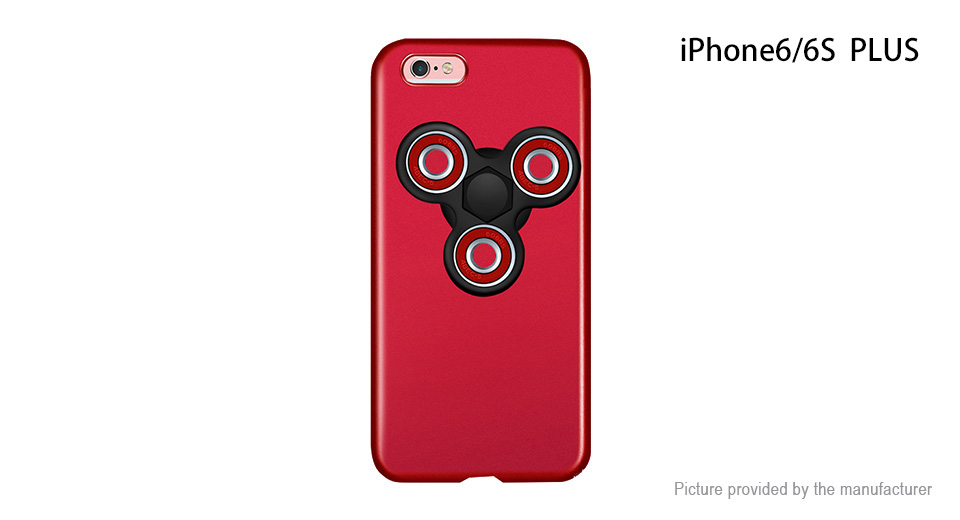 Pepkoo Hand Fidget Tri-Spinner Protective Back Case for iPhone 6s Plus/6 Plus