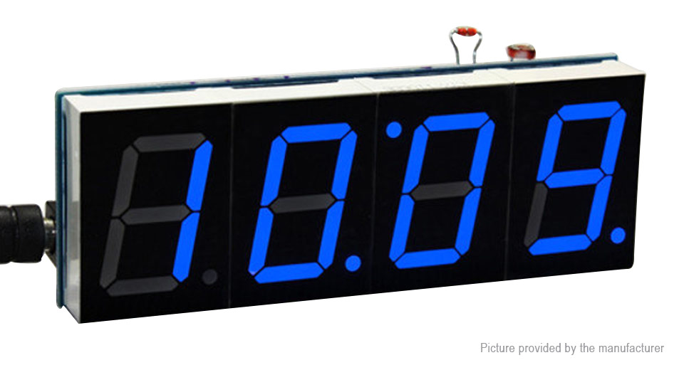 DIY 1 LED 4-Digit Electronic Clock Kit