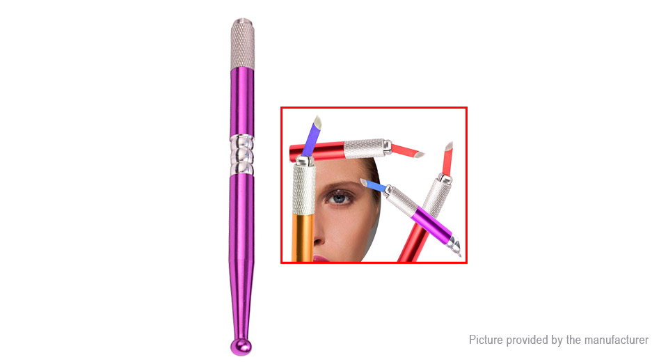 Permanent Manual Tattoo Eyebrow Makeup Pen w/ Blade