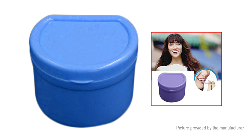 Denture Case Container Dental False Teeth Storage Box Rinsing Basket