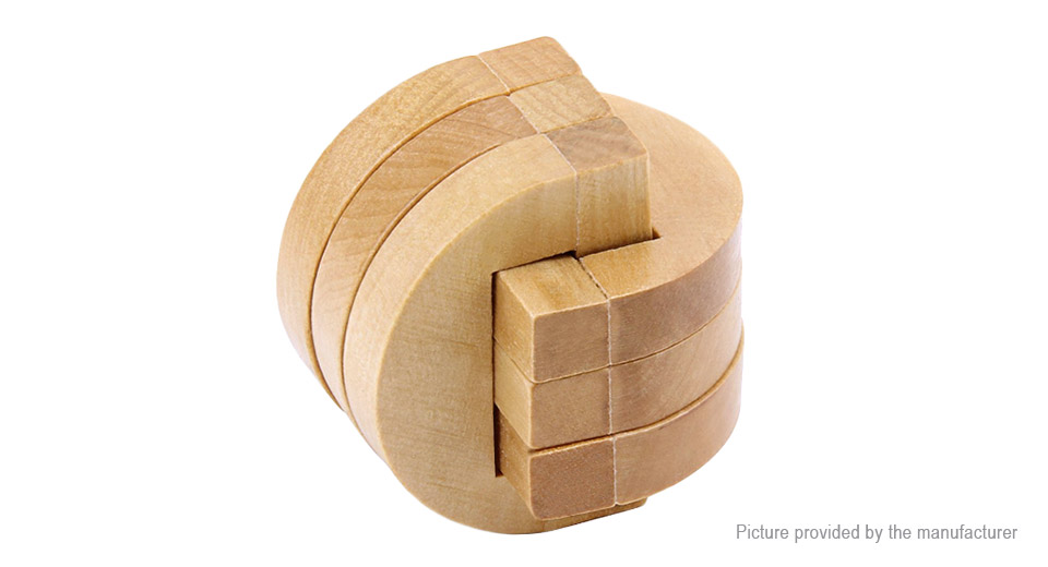 Wooden Classic Intelligence Development Game Puzzle Brain Teaser Educational Toy