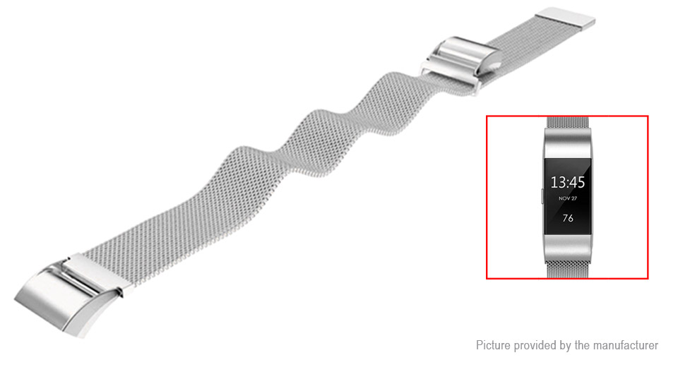 Replacement Stainless Steel Watchband Strap for Fitbit Charge 2
