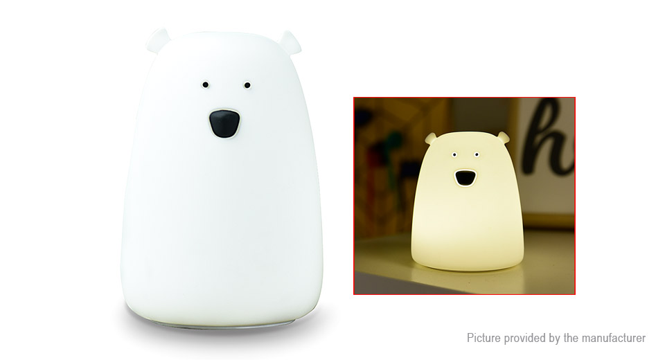 Bear Styled USB Rechargeable LED Night Decoration Lamp