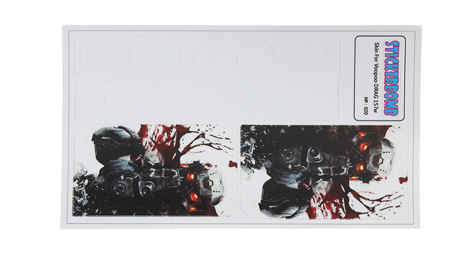Stickerbomb Self-adhesive Skin Sticker for VOOPOO DRAG 157W Mod
