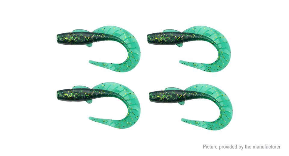 Realistic J Styled Glow-in-the Dark Fishing Lure Bait (4-Pack)
