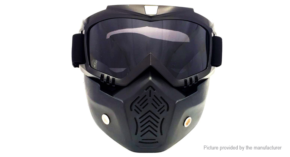 Detachable Motorcycle Bicycle Modular Helmet Face Mask Shield Goggles