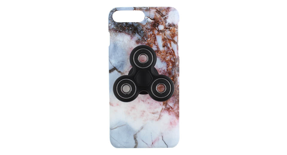 Hand Fidget Tri-Spinner Protective Back Case for iPhone 7 Plus