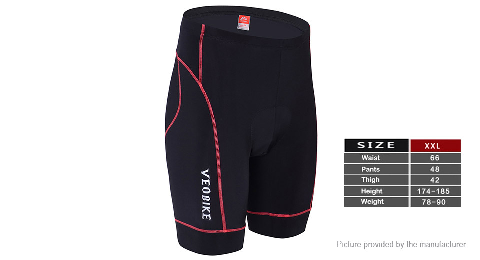 VEOBIKE Summer Outdoor Sports Cycling Breathable Shorts (Size 2XL)
