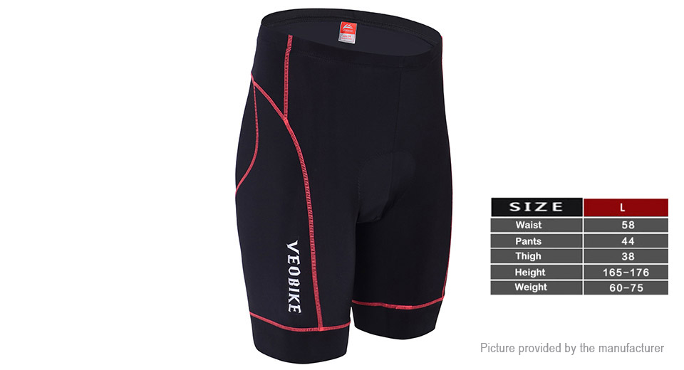VEOBIKE Summer Outdoor Sports Cycling Breathable Shorts (Size L)