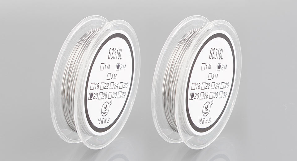 MKWS 316L Stainless Steel Resistance Wire for Rebuildable Atomizer (2-Pack)