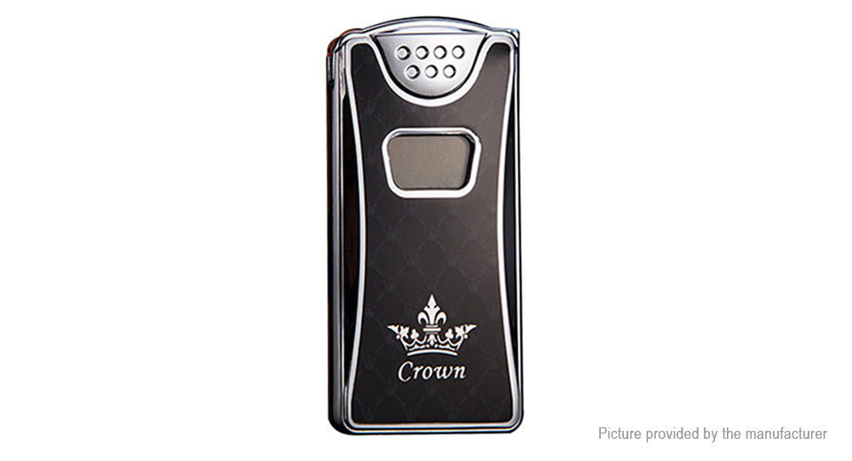 HD-209 Crown Pattern USB Rechargeable Electronic Lighter