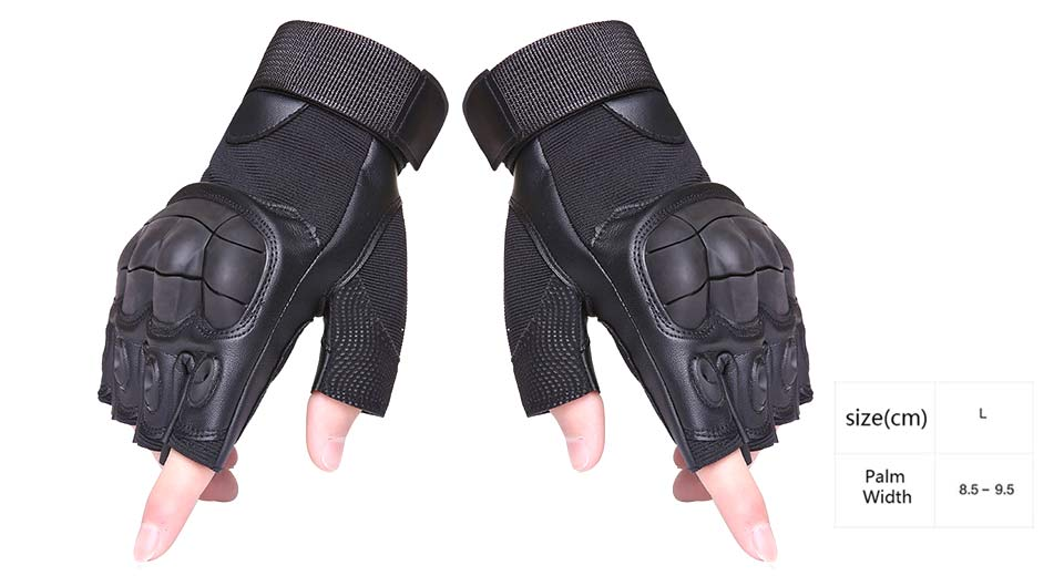 Outdoor Tactical Half Finger Gloves (Pair/Size L)