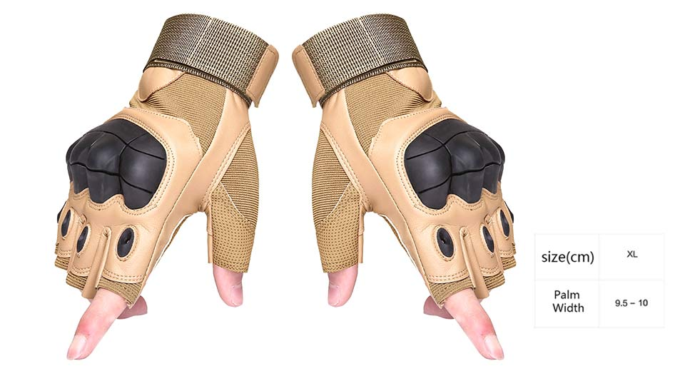 Outdoor Tactical Half Finger Gloves (Pair/Size XL)