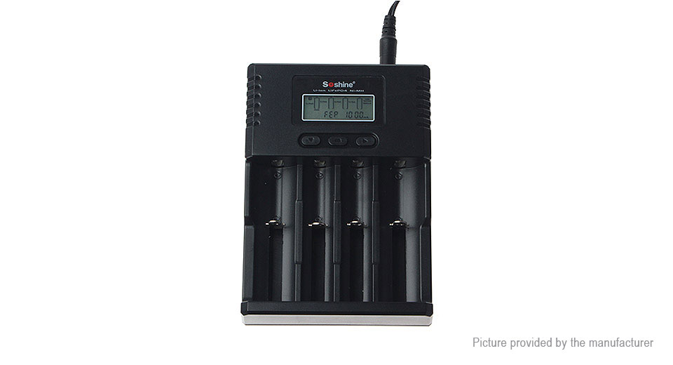 Authentic Soshine SC-H4 4-Slot Battery Charger