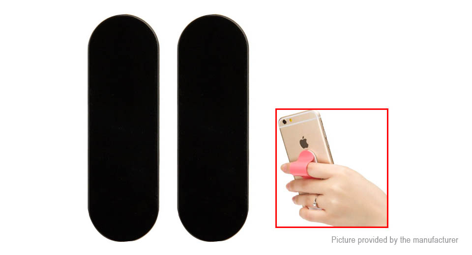 Stick-on Finger Buckle Ring Grip Stand Holder for Cell Phone (2-Pack)