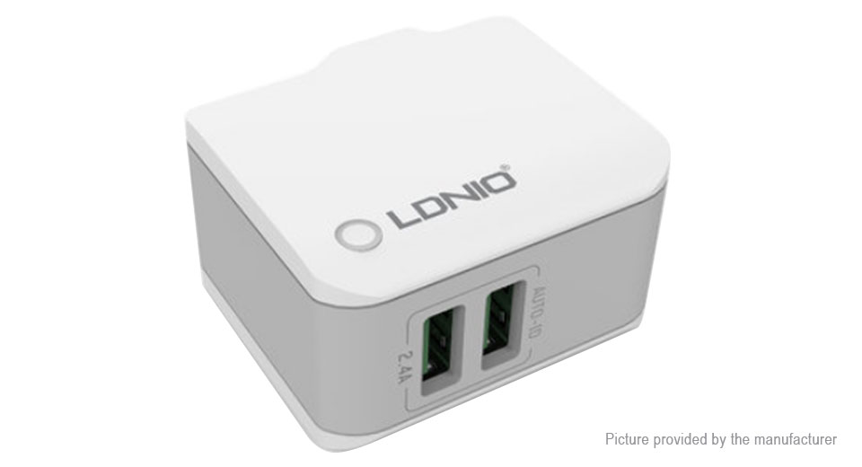 LDNIO A2203 2-Port USB Travel Wall Charger Power Adapter (US)