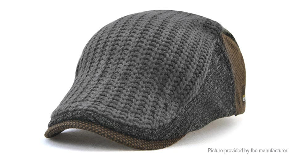 Jamont Mens Knitted Beret Hat Cabbie Cap