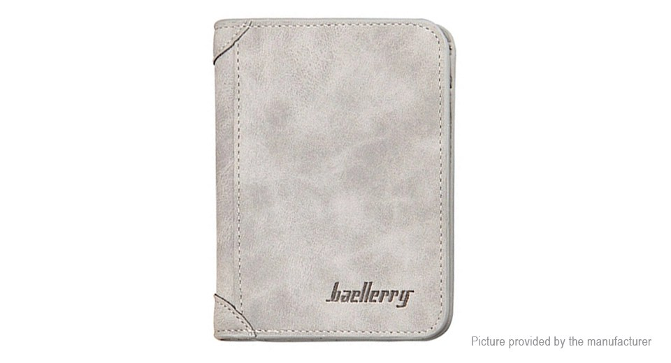 Baellerry Mens PU Leather Ultra-thin Coin Purse Short Wallet Card Holder