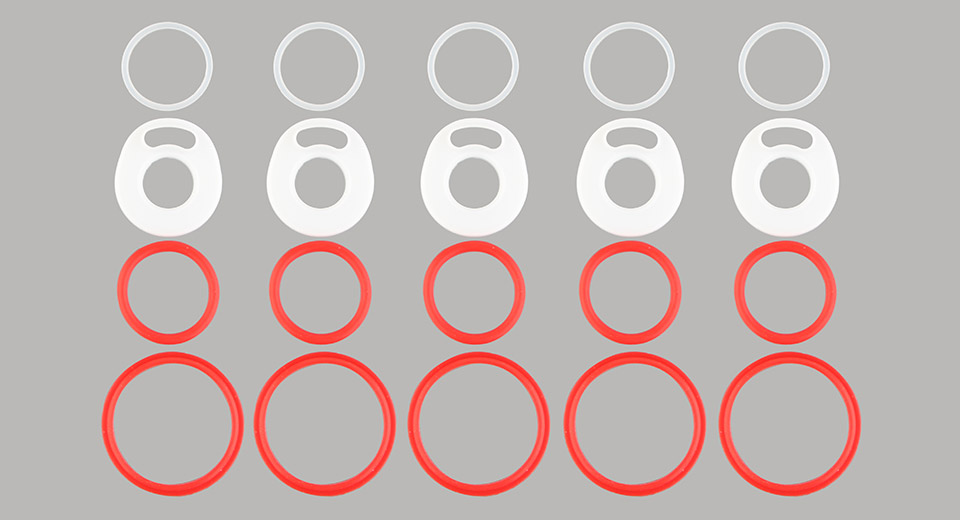 AOLVAPE Silicone O-ring Set for SMOK TFV12 Prince Clearomizer (5-Pack)
