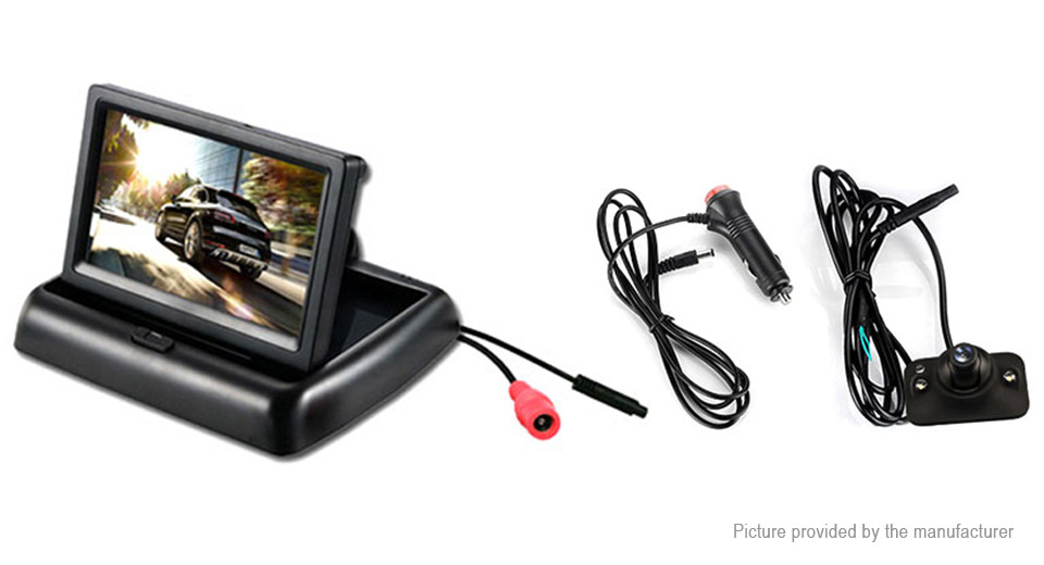 Yoelbaer 4.3 TFT LCD Folding Car Rearview Monitor + Car Rearview Camera