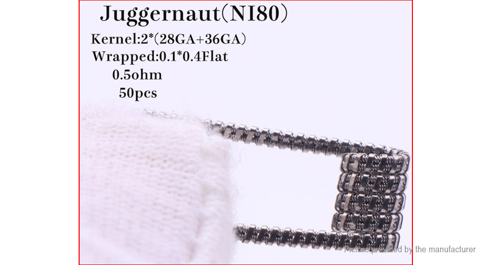 Authentic XFKM Ni80 Juggernaut Pre-Coiled Wire