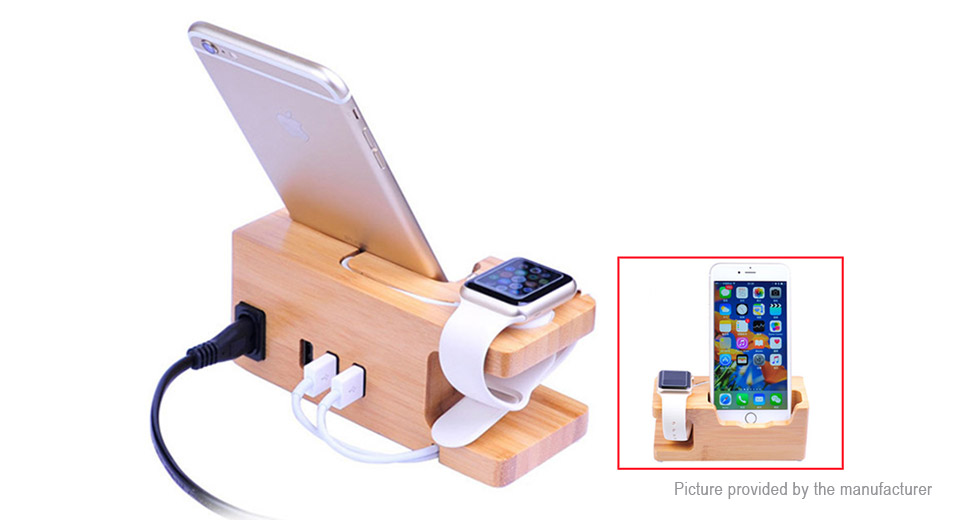3-Port USB Charging Dock Station Stand Holder for Apple Watch / iPhone