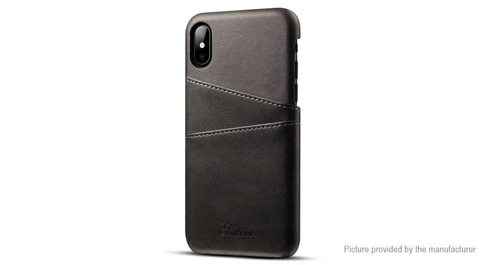 Suteni PU Leather Protective Back Case Cover for Huawei P20 Pro