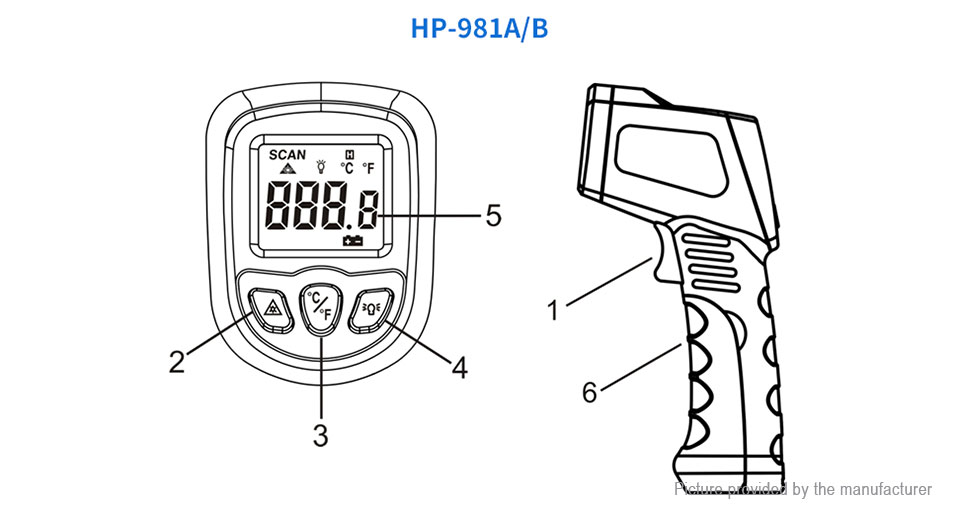 $14.39 (Free Shipping) Authentic HoldPeak HP-981C Non