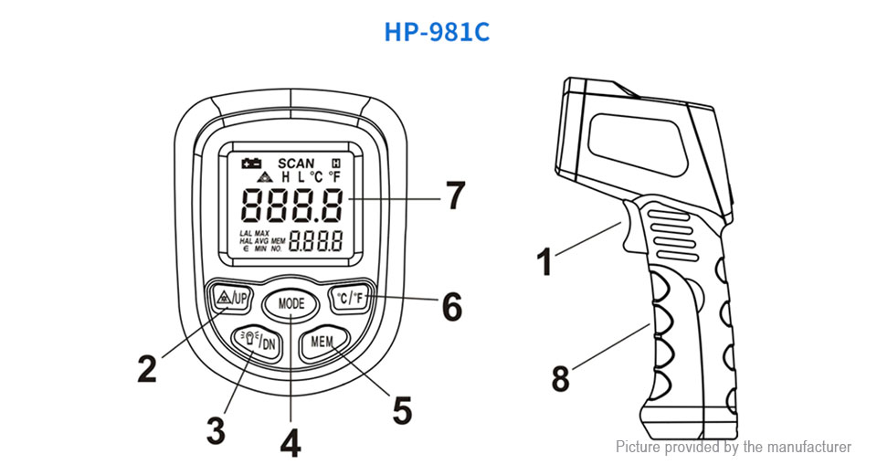 $14.35 (Free Shipping) Authentic HoldPeak HP-981C Non
