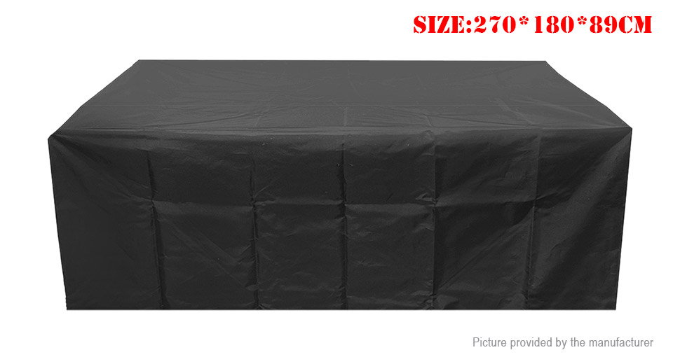 Dustproof Oxford Cloth Table Chairs Furniture Protective Cover (270*180*89cm)