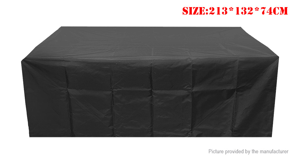 Dustproof Oxford Cloth Table Chairs Furniture Protective Cover (213*132*74cm)