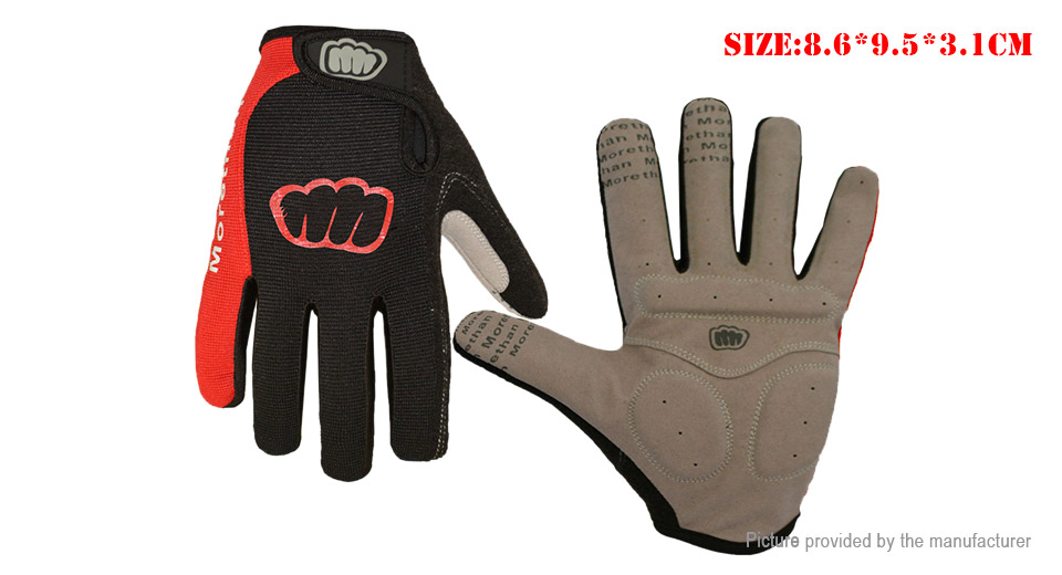 Outdoor Cycling Touch Screen Full Finger Gloves (Size M)