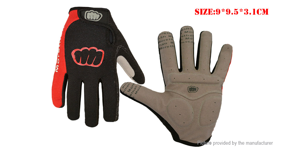 Outdoor Cycling Touch Screen Full Finger Gloves (Size L)