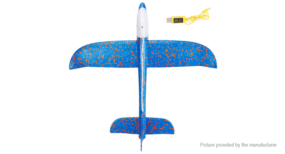 LED Foam Hand Throwing Airplane Aircraft Model Toy