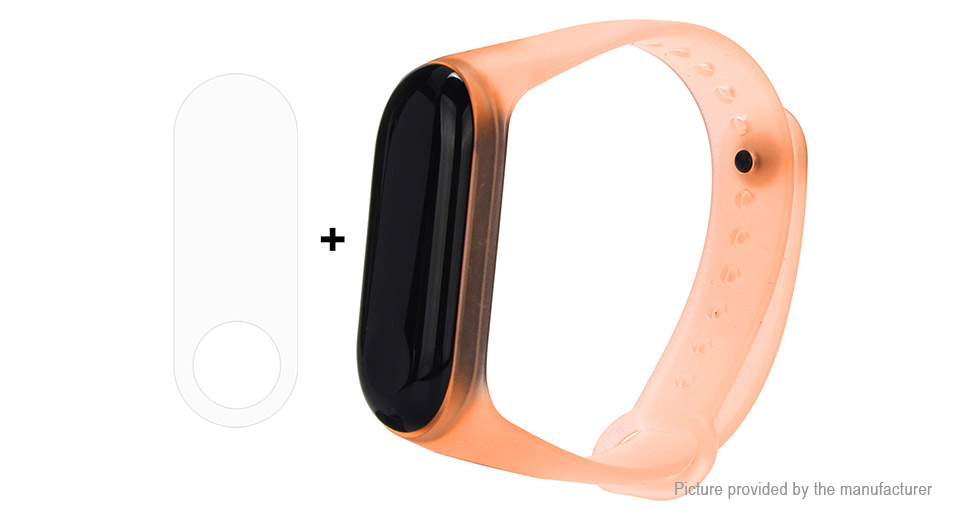 Replacement Silicone Wristband Strap + TPU Screen Protector for Xiaomi Mi Band 3