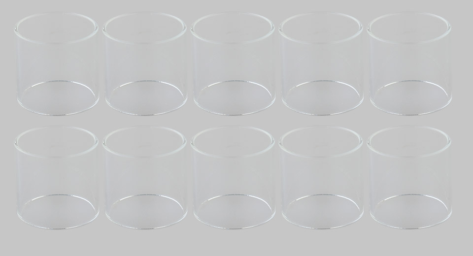 Replacement Glass Tank for Wotofo Bravo RTA Atomizer (10-Pack)