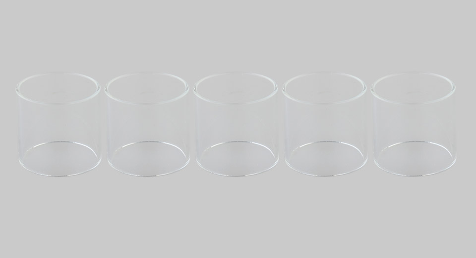 Replacement Glass Tank for Wotofo Bravo RTA Atomizer (5-Pack)