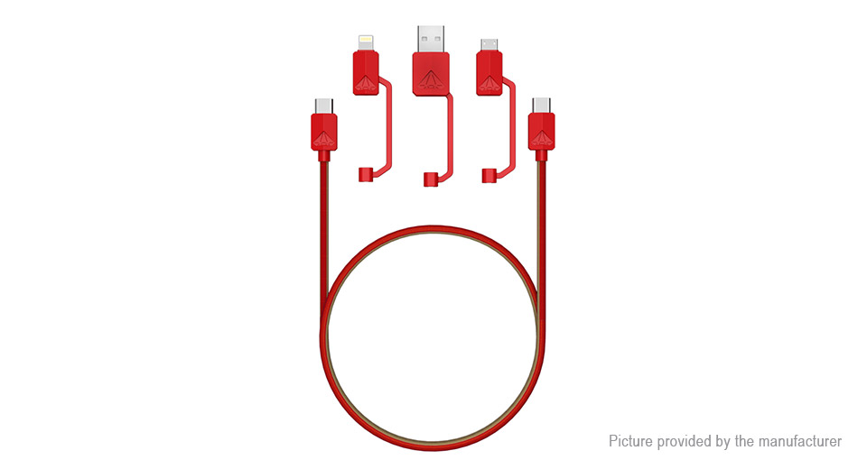 All-in-1 8-pin + 2*USB-C + Micro-USB + USB 2.0 Data & Charging Cable (120cm)
