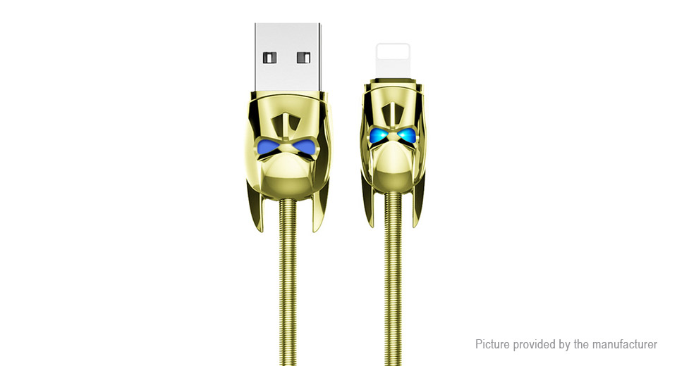 Authentic hoco U30 Shadow Knight 8-pin to USB 2.0 Data & Charging Cable (120cm)